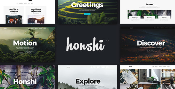 Honshi v2.3.8 — Creative Multi Purpose WordPress Theme
