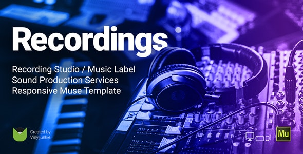 Recordings v1.0 — Recording Studio / Sound Production / Music Label Responsive Muse Template