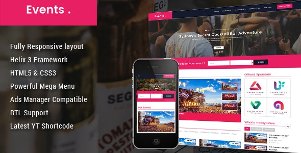 Event v3.9.6 — Conference Joomla Template
