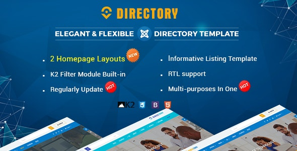Directory v3.9.6 — Responsive Ultimate Listing Joomla Template
