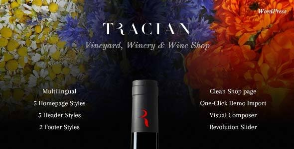 Tracian v1.4 — Wine WordPress Theme