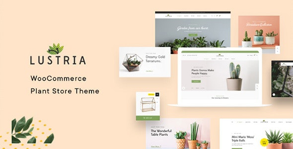 Lustria v1.5 — MultiPurpose Plant Store WordPress Theme