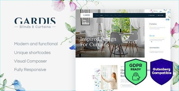 Gardis v1.2.1 — Blinds and Curtains Studio & Shop WordPress Theme