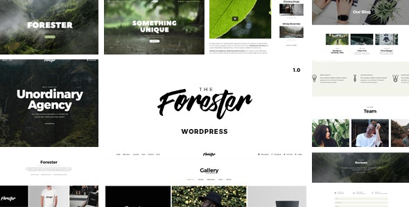 The Forester v1.3.0 — WordPress Minimalist Portfolio Theme