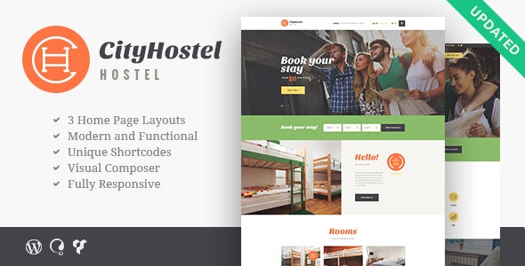 City Hostel v1.0.6 — A Travel & Hotel Booking WordPress Theme