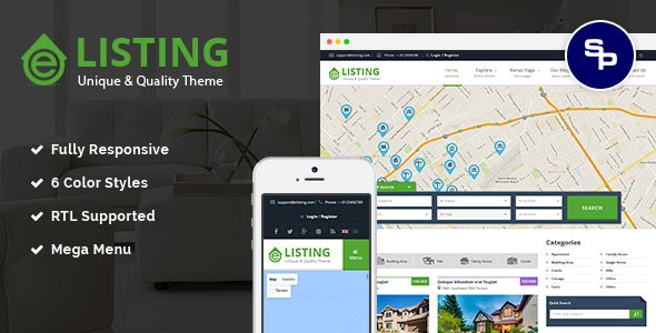 eListing v1.0.2 — Responsive Real Estate Joomla Template
