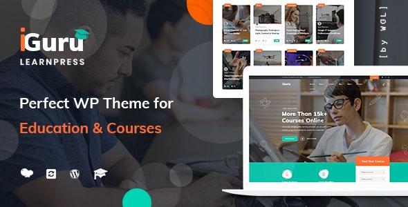 iGuru v1.0.2 — Education & Courses WordPress Theme