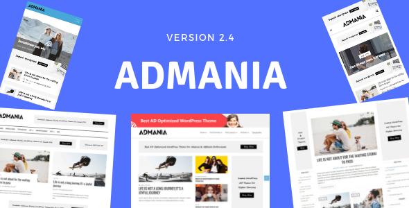 Admania v2.4.8 — AD Optimized WordPress Theme