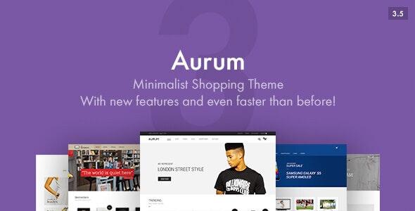 Aurum v3.5.1 — Minimalist Shopping Theme