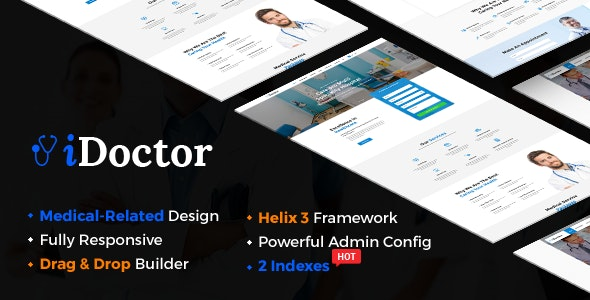 iDoctor v3.9.6 — Responsive & Multipurpose Medical Joomla Template With Page Builder