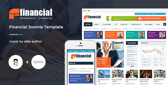 Financial v3.9.6 — Responsive Joomla News Template