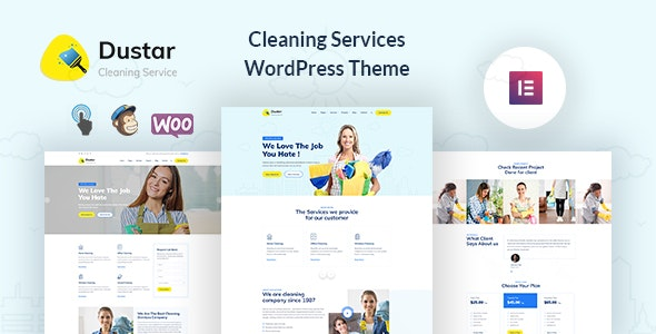 Dustar v1.0.1 – Cleaning Services WordPress Theme