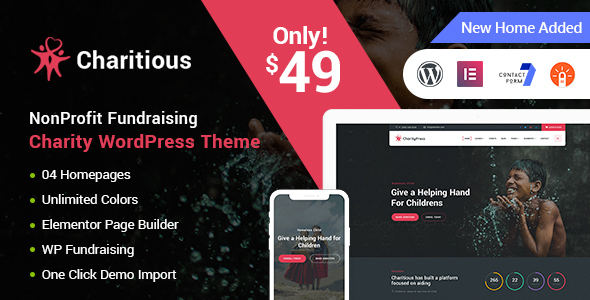 Charitious v2.4.3 — NonProfit Fundraising Charity Theme
