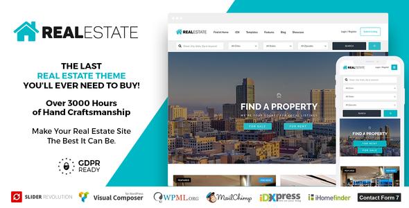 Real Estate 7 v2.9.5 — Real Estate WordPress Theme