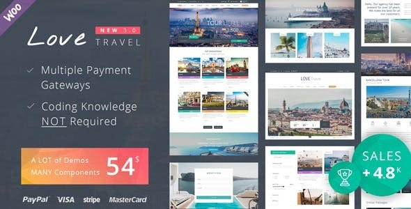 Love Travel v3.6 — Creative Travel Agency WordPress