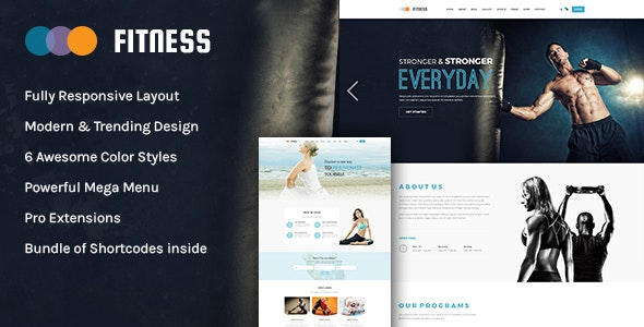 Fitness v3.9.6 — Responsive Joomla Yoga Club Template