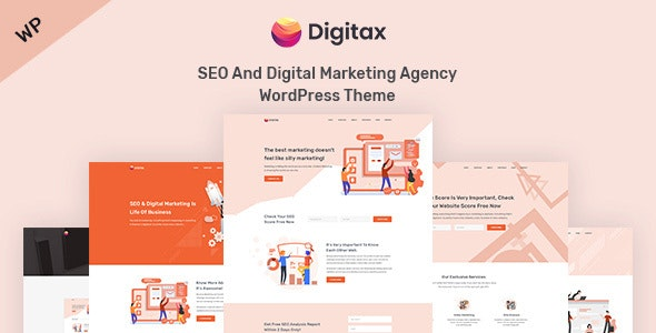Digitax v1.0.5 — SEO & Digital Marketing Agency WordPress Theme