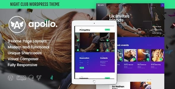 Apollo v1.3.1 — Night Club, DJ Concert & Music Event WordPress Theme