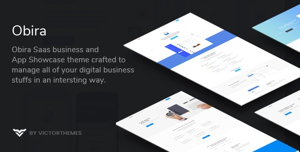 Obira v1.9.2 — SaaS Business & App Showcase WordPress Theme