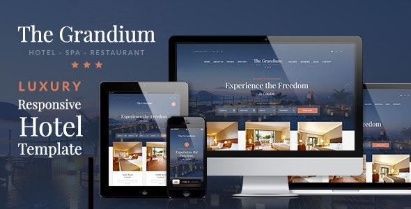 Grandium v1.6.1 — Luxury Hotel Theme