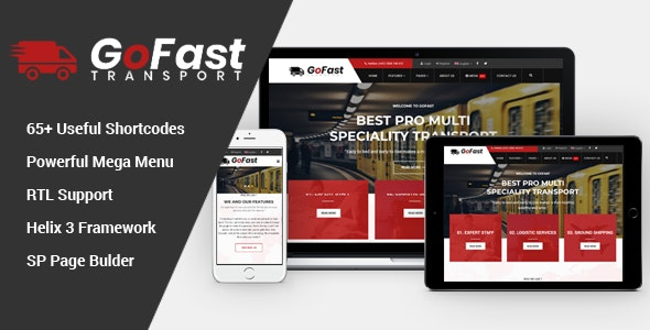 GoFast v3.9.6 — Multipurpose Transport & Logistics Joomla Template