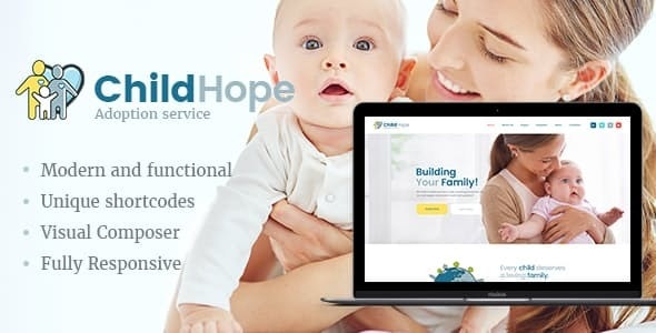 ChildHope v1.1.1 — Child Adoption Service & Charity Nonprofit WordPress Theme