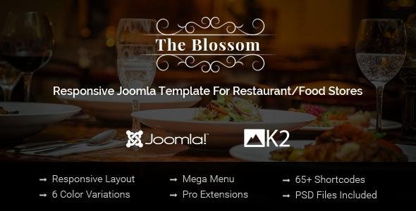 Blossom v3.9.6 — Responsive Joomla Template For Restaurant/Food stores