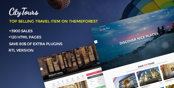CityTours v5.1 — Travel and Hotels Site Template