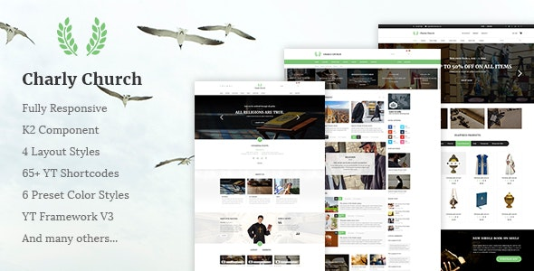 Charly v3.9.6 — Responsive Church/Religious Joomla Theme