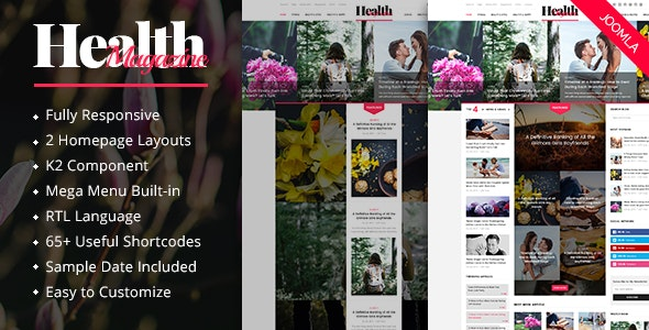 HealthMag v3.9.6 — Multipurpose News/Magazine Joomla Template