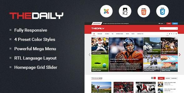 TheDaily v3.9.6 — Responsive News Portal Joomla Template