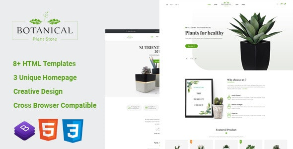 Botanical v1.0 — HTML5 Ecommerce Template