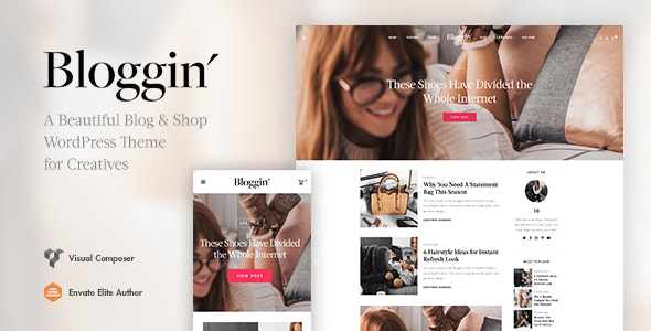 Blggn v1.4.0 — A Responsive Blog & Shop WordPress Theme
