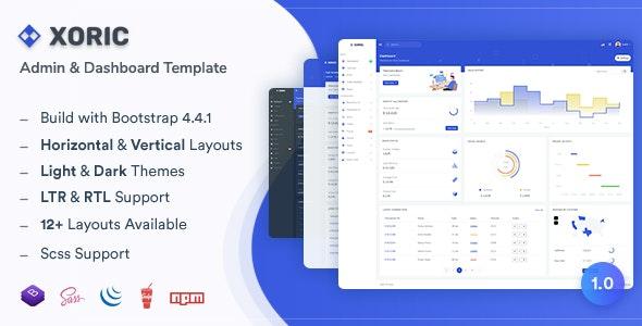 Xoric v1.0 — Admin & Dashboard Template