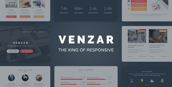 Venzar v1.0.0 — Responsive Clean Email Template