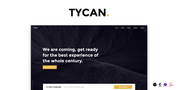 TYCAN v1.0 — Timeless Coming Soon Template