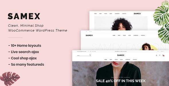 Samex v1.4 — Clean, Minimal Shop WooCommerce WordPress Theme