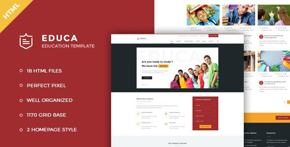 Educa v1.0 — Education & Courses HTML Template