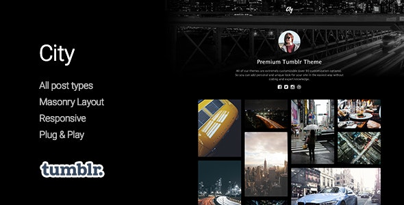 City v1.0 — High Quality Portfolio Tumblr Theme