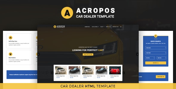 Acropos v1.0 — Car Dealer HTML Template