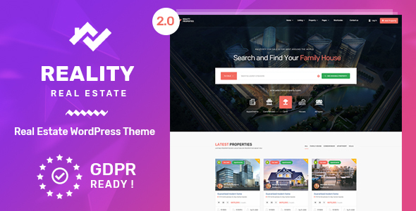 Reality v2.5.1 — Real Estate WordPress Theme