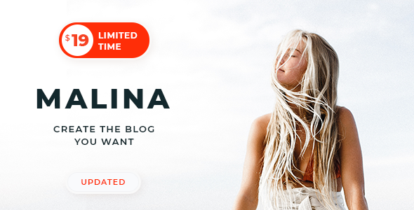 Malina v1.8.0 — Personal WordPress Blog Theme