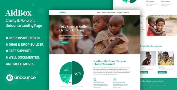 Aidbox v1.0 — Charity & Nonprofit Unbounce Landing Page