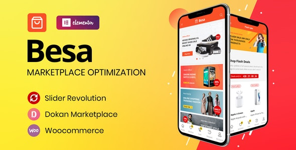 Besa v1.0.2 — Elementor Marketplace WooCommerce Theme