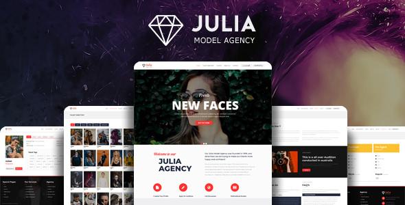 Julia v2.0.5 — Talent Management WordPress Theme