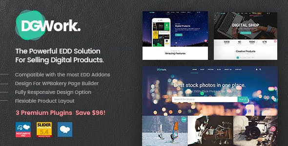 DGWork v1.8.6.2 — Powerful Responsive Easy Digital Downloads