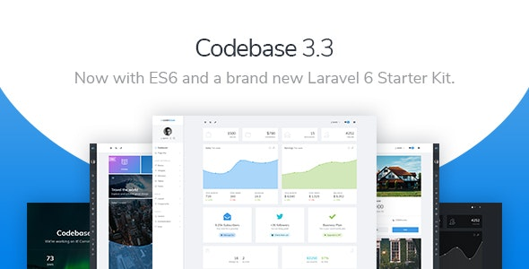 Codebase v3.3 — Bootstrap 4 Admin Dashboard Template & Laravel 6 Starter Kit