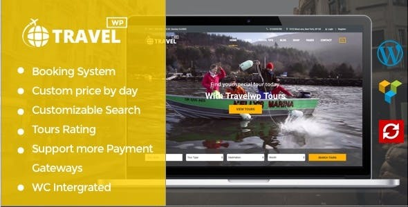 Travel WP v1.6.5 — Tour & Travel WordPress Theme