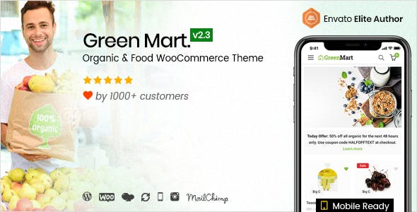 GreenMart v2.3.8 — Organic & Food WooCommerce WordPress Theme