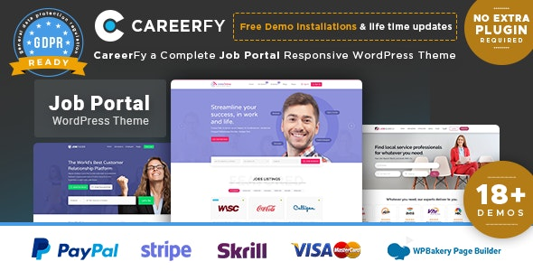 Careerfy v3.3.0 — Job Board WordPress Theme
